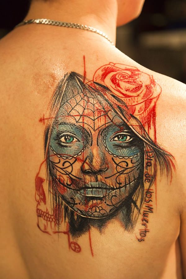 60 day of the dead tattoos you will want to get asap. Black Bedroom Furniture Sets. Home Design Ideas