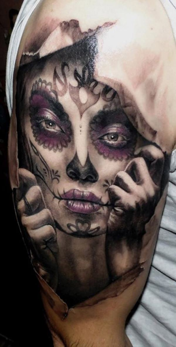 day of the dead tattoos 70