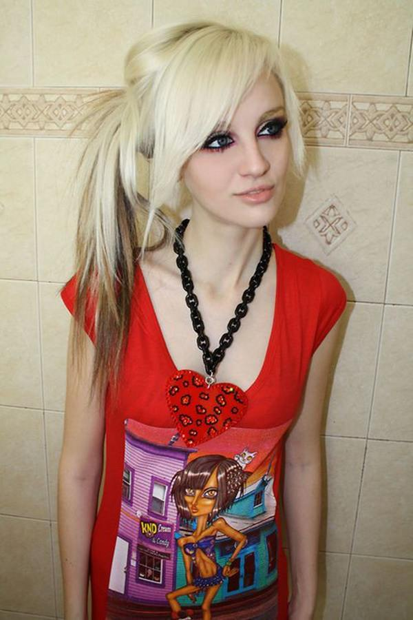 Hot emo blonde teen for that