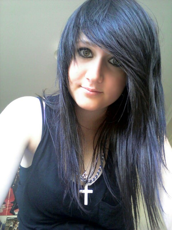 Beautiful emo girls with black hair sorry