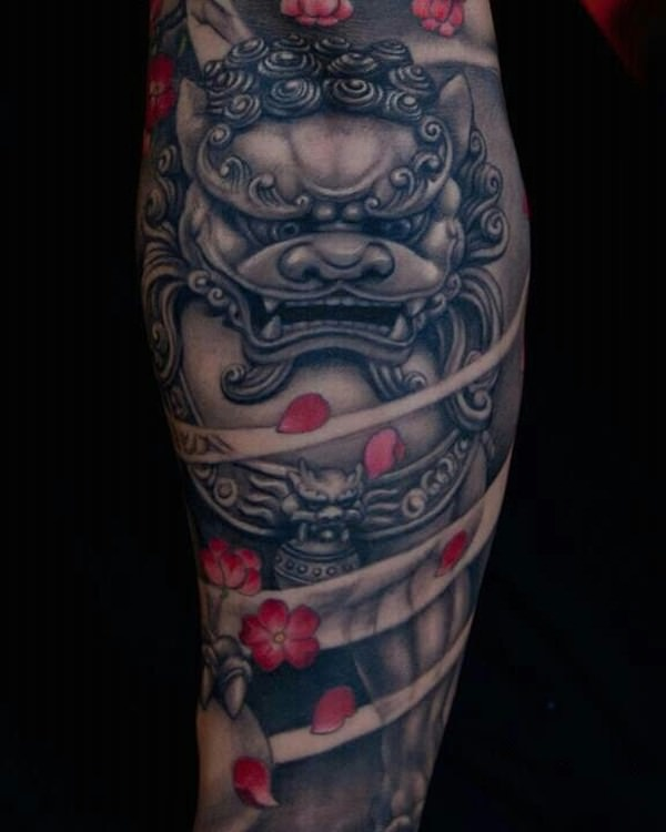 Gallery For gt Chinese Foo Dog Tattoo Meaning