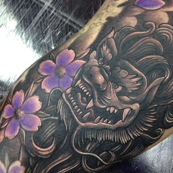 f6fdd735d744d 35 Ferocious Foo Dog Tattoos Teeming with Personality