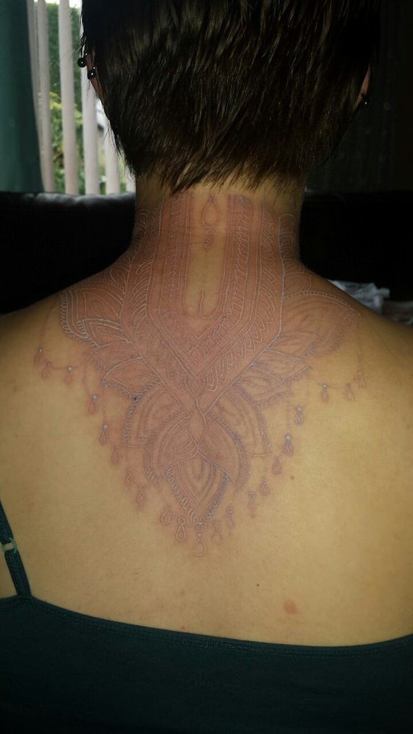 65 Fabulous Photos of White Ink Tattoos for the Artistic