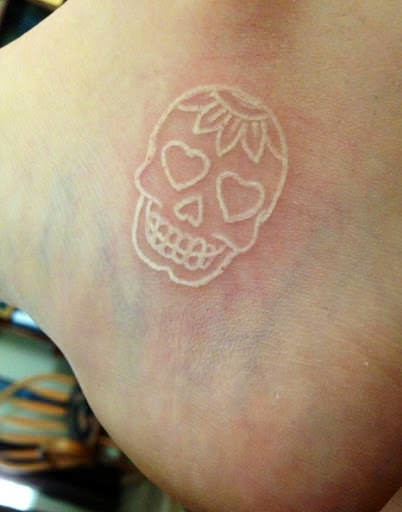 65 fabulous photos of white ink tattoos for the artistic for Is white tattoo ink safe