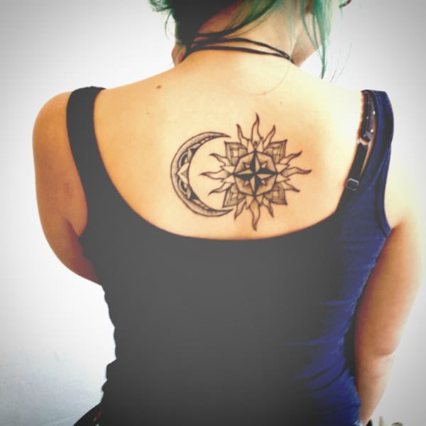 77 sun and moon tattoo ideas for ink lovers everywhere. Black Bedroom Furniture Sets. Home Design Ideas