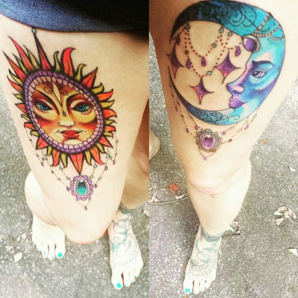 77 Sun And Moon Tattoo Ideas For Ink Lovers Everywhere
