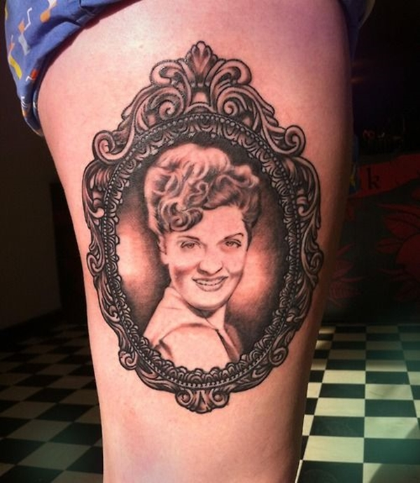 70 portrait tattoos done by talented artists. Black Bedroom Furniture Sets. Home Design Ideas