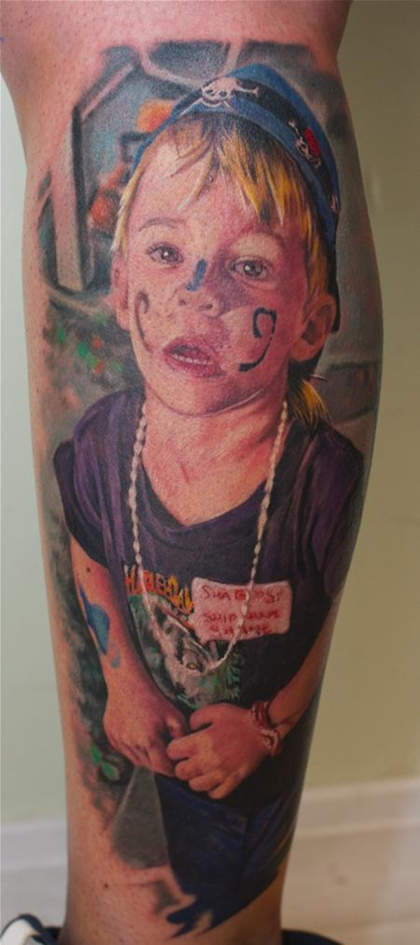 70 portrait tattoos done by talented artists for Little kid tattoos