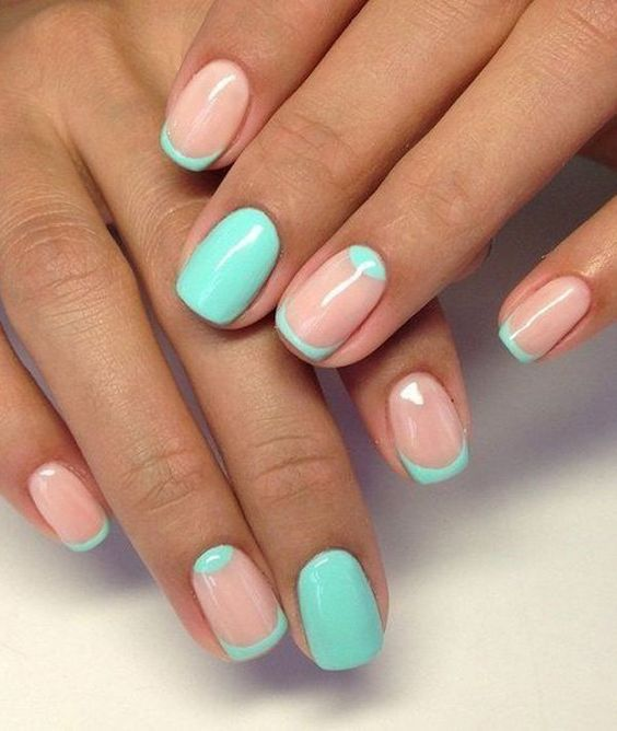 Mint Green Nails For Pretty Ladies