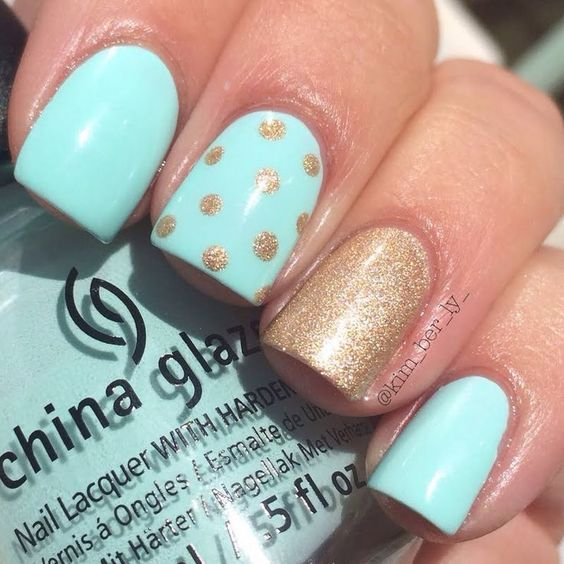 We can't ignore so popular ombre technique when we're talking about mint  green nail designs. There are so many ways to combine mint green with other  colors ... - Mint Green Nails For Pretty Ladies